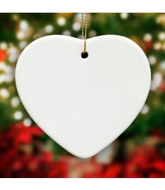 Heart Shape Ornament Sublimation