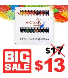 Oil Color Paint Set Of 24 Colors