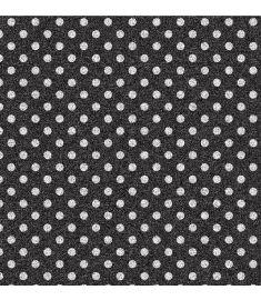 Polka-Dot Black Glitter Vinyl