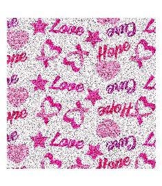 Hope Love Glitter Vinyl