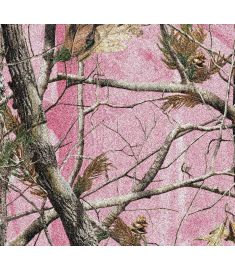 Camo Tree Pink Glitter Vinyl