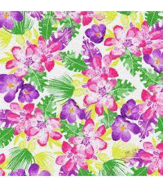 Flowers Violet Glitter Vinyl
