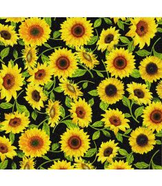 Sunflowers Black Glitter Vinyl