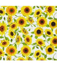 Sunflowers White Glitter Vinyl