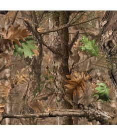 Camo Tree Dry Leaves Vinyl