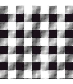 Plaid Black And White Vinyl