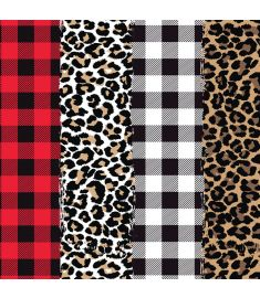 Plaids And Leopard Mix II Vinyl