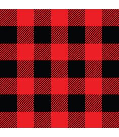 Plaid Red and Black Sign Vinyl