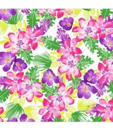 Flowers Violet Sign Vinyl