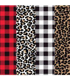 Plaids And Leopard Mix II Sign Vinyl