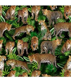 Leopard Collage Dark Vinyl