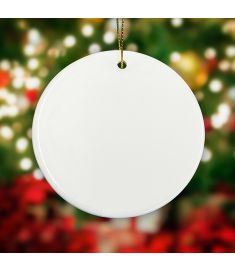 Round Shape Ornament Sublimation