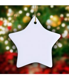 Star Shape Ornament Sublimation