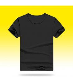 Modal Round Neck T-Shirt Black