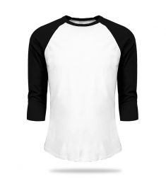 Tshirt Baseball White And Black