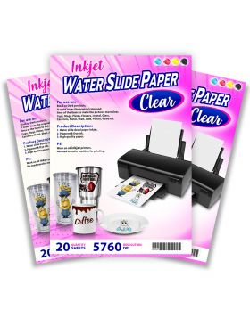 Inkjet Water Slide Paper Clear