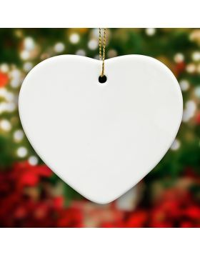 Heart Shape Ornament Sublimation