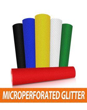 Glitter Perforated Vinyl