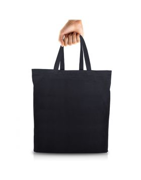 Tote Bag Black with Pocket (16 x 14 Inches)