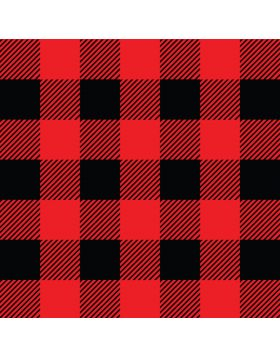 Plaid Red And Black Vinyl