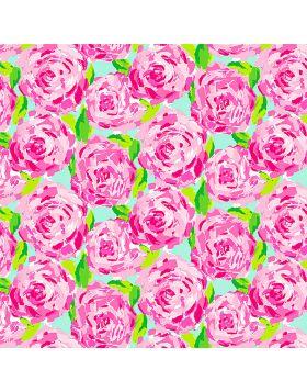 Water Colors Pink Flowers Vinyl