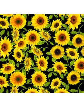 Sunflowers Black Vinyl
