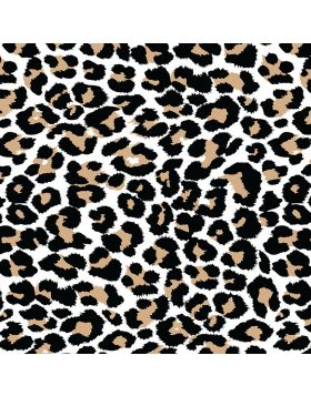 Leopard Brush White Vinyl