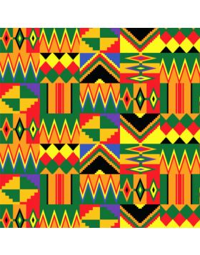 African Mix Chevron Vinyl
