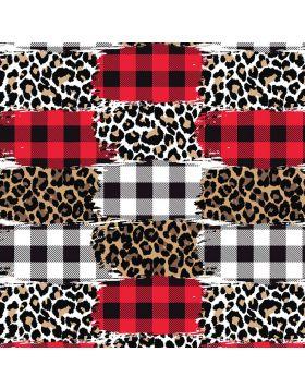 Plaids And Leopard Mix I Sign Vinyl
