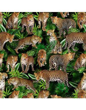 Leopard Collage Dark Sign Vinyl