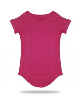 Fuchsia Long Tee T-Shirt 50/50