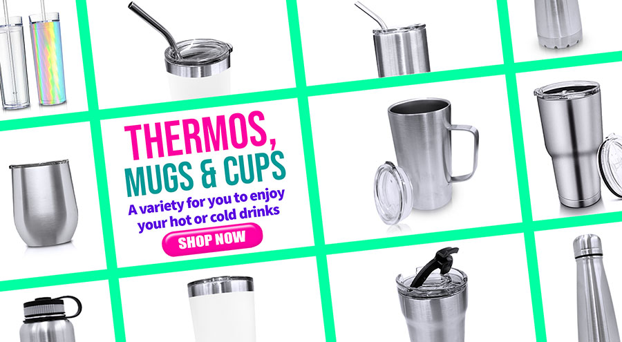 Thermos, Mugs & Cups