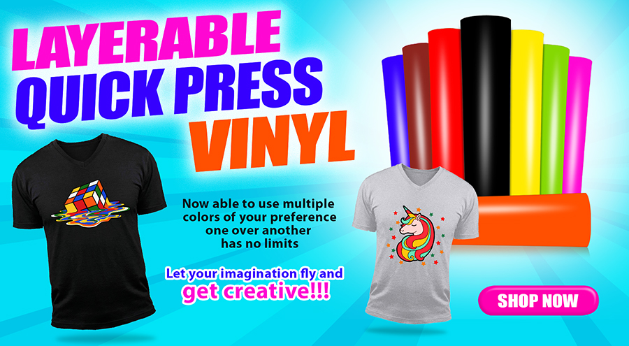 Layerable Quick Press Vinyl