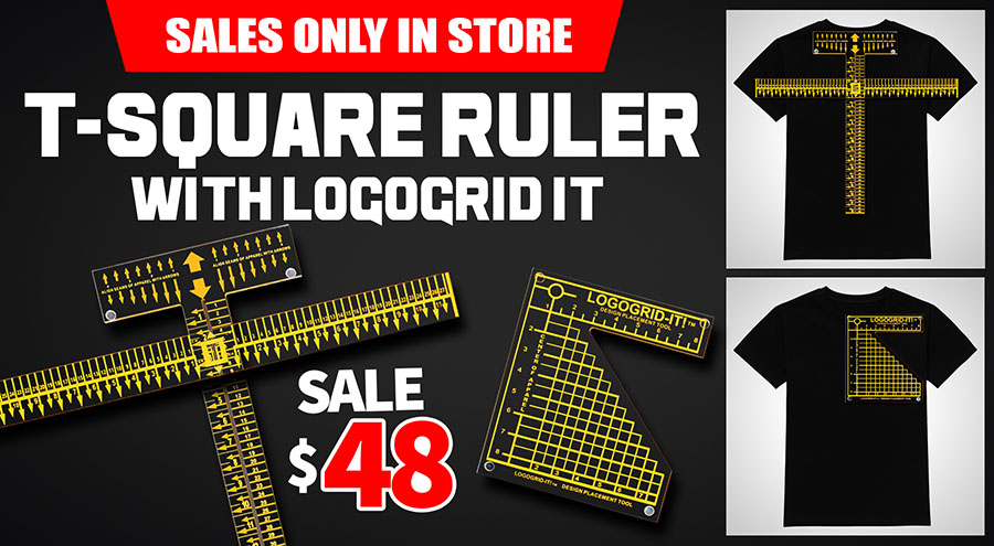 T-Square Ruler with Logo-grid IT